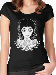 Flapper in black Women's Fitted Scoop T-Shirt