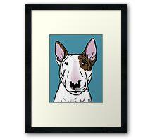 Lola Bull Terrier Friend Of Freddie Framed Print