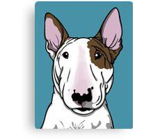 Lola Bull Terrier Friend Of Freddie Canvas Print