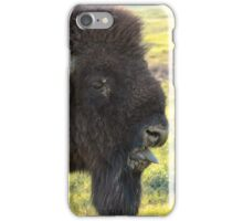 Bison Sticking Tongue Out  iPhone Case/Skin