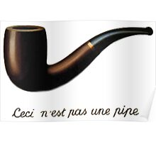 Ceci n'est pas une pipe (It is not a pipe) Poster