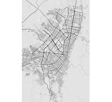 Bogota, Colombia Map. (Black on white) Photographic Print
