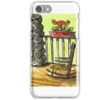 Peaceful Front Porch Rocking Chair iPhone Case/Skin