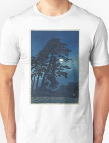 Kawase Hasui - Full Moon In Magome Unisex T-Shirt