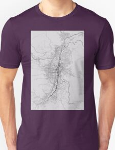 Medellin, Colombia Map. (Black on white) Unisex T-Shirt