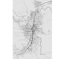 Medellin, Colombia Map. (Black on white) Photographic Print