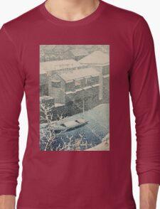 Kawase Hasui - Ochanomizu In Snow (Ochanomizu) Long Sleeve T-Shirt