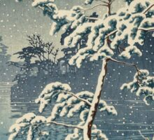Kawase Hasui - Senzoku Pond In Snow Sticker