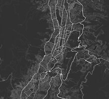 Quito, Ecuador Map. (White on black) by Graphical-Maps