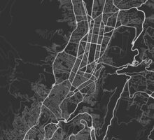 Quito, Ecuador Map. (White on black) Sticker