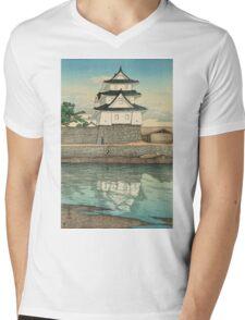 Kawase Hasui - Takamatsu Castle (Takamatsu-Jo) Mens V-Neck T-Shirt
