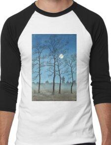 Kawase Hasui - Winter Moonlight Men's Baseball ¾ T-Shirt