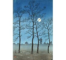 Kawase Hasui - Winter Moonlight Photographic Print