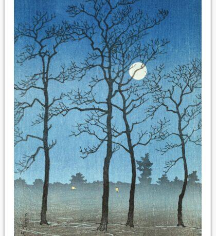 Kawase Hasui - Winter Moonlight Sticker