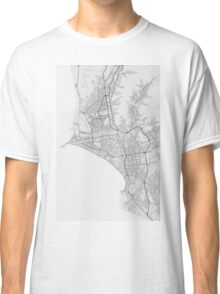 Lima, Peru Map. (Black on white) Classic T-Shirt