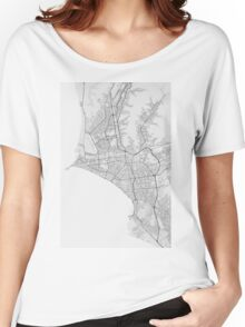 Lima, Peru Map. (Black on white) Women's Relaxed Fit T-Shirt