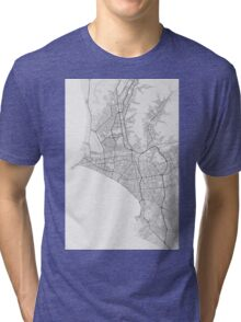 Lima, Peru Map. (Black on white) Tri-blend T-Shirt