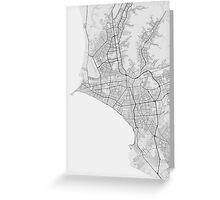 Lima, Peru Map. (Black on white) Greeting Card
