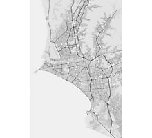 Lima, Peru Map. (Black on white) Photographic Print