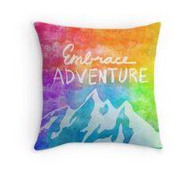 """""""Embrace Adventure"""" Inspirational Word Art Throw Pillow"""