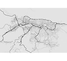 Caracas, Venezuela Map. (Black on white) Photographic Print