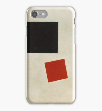Kazemir Malevich - Black Square And Red Square 1915 iPhone Case/Skin