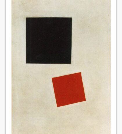 Kazemir Malevich - Black Square And Red Square 1915 Sticker