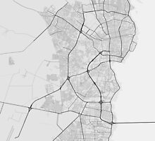 Maracaibo, Venezuela Map. (Black on white) by Graphical-Maps