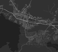 Maracay, Venezuela Map. (White on black) by Graphical-Maps