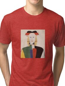 Kazemir Malevich - Girl With A Comb In Her Hair 1933 Tri-blend T-Shirt