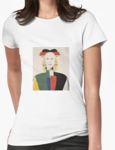 Kazemir Malevich - Girl With A Comb In Her Hair 1933 Womens Fitted T-Shirt