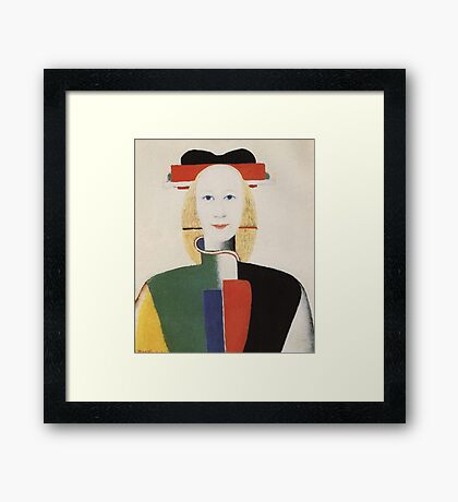 Kazemir Malevich - Girl With A Comb In Her Hair 1933 Framed Print
