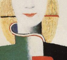 Kazemir Malevich - Girl With A Comb In Her Hair 1933 Sticker