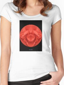 Spherical Red Rose  Women's Fitted Scoop T-Shirt