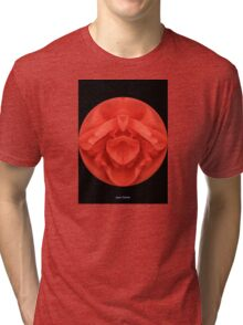 Spherical Red Rose  Tri-blend T-Shirt