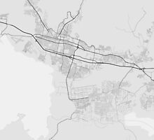 Maracay, Venezuela Map. (Black on white) by Graphical-Maps