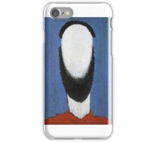 Kazemir Malevich - Head Of Peasant 2 iPhone Case/Skin