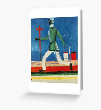 Kazemir Malevich - Running Man Greeting Card