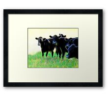 Electric Cows Framed Print