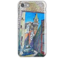 Looking into a gated driveway in Oakland Chinatown iPhone Case/Skin