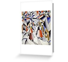Kazimir Malevich - Morning In The Village After Snowstorm  Greeting Card