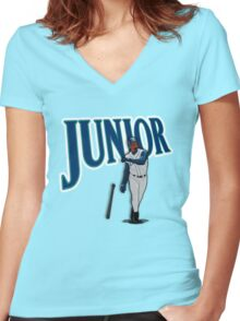 "Seattle - ""Junior"" Women's Fitted V-Neck T-Shirt"