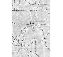 Saint Paul, USA Map. (Black on white) Photographic Print