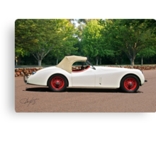 Vintage Jaguar XK120 Roadster Canvas Print