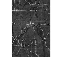 Saint Paul, USA Map. (White on black) Photographic Print