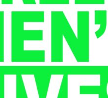 LITTLE GREEN MENS LIVES MATTER 1 Sticker