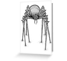 Scary Spider Greeting Card