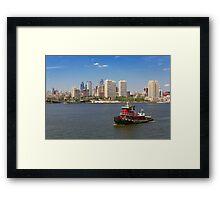 City - Camden, NJ - The city of Philadelphia Framed Print