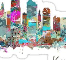 Kansas City Skyline - Color Sticker