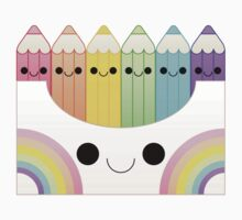 kawaii vivid colored pencil box Kids Tee